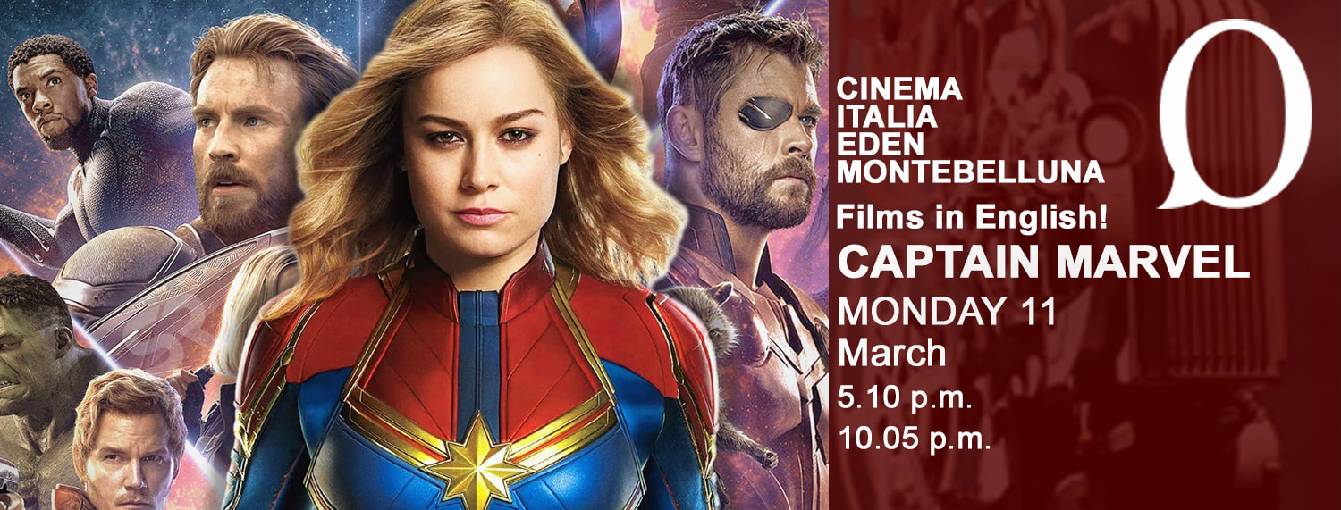 Captain Marvel Films in English Oxford MONTEBELLUNA e cinema Italia Eden